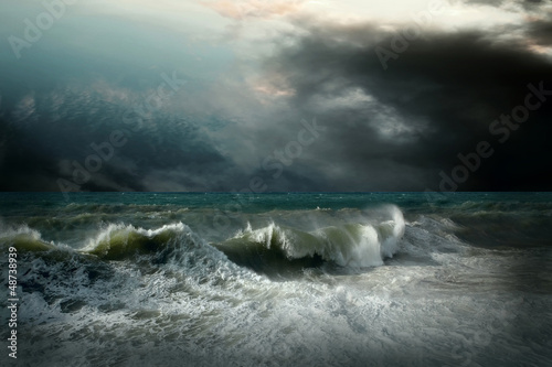 Fotografie, Obraz  View of storm seascape