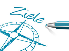 Kompass Stift Ziele