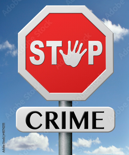 stop crime Canvas Print