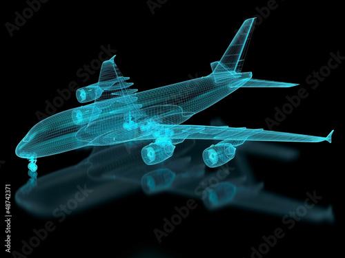 Fotografia Commercial Aircraft Mesh