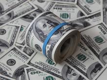 Folded Bunch Of American Hundred Dollar Bills