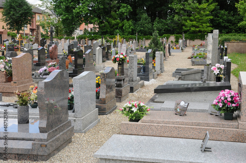 Wall Murals Cemetery the cemetery of Oberhausbergen in Alsace