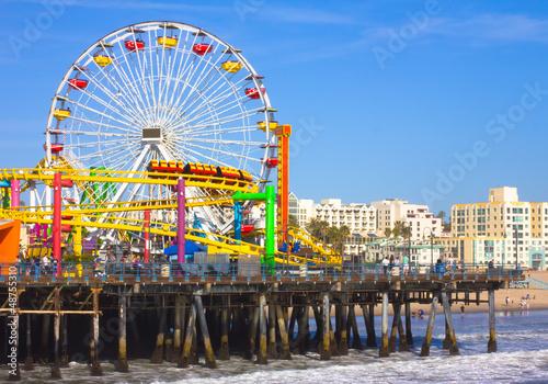 Staande foto Los Angeles Santa Monica, CA. with a view of the Ferris Wheel