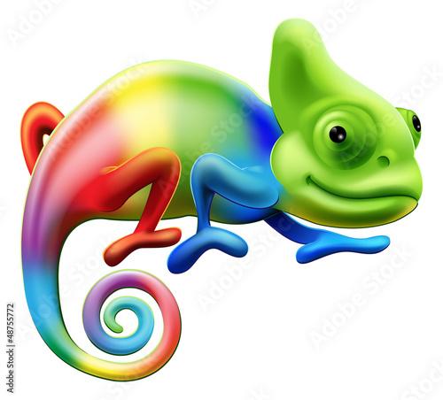 Foto-Flächenvorhang ohne Schienensystem - Rainbow chameleon (von Christos Georghiou)
