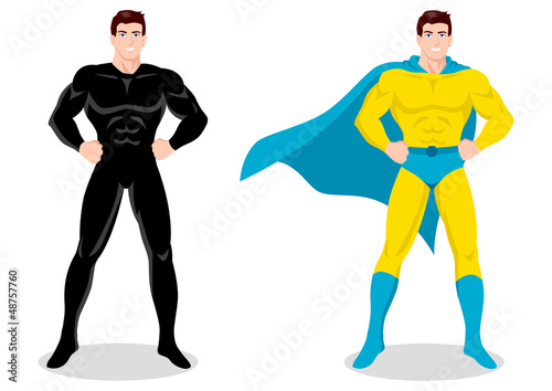 Poster Superheroes Stock vector of a superhero posing