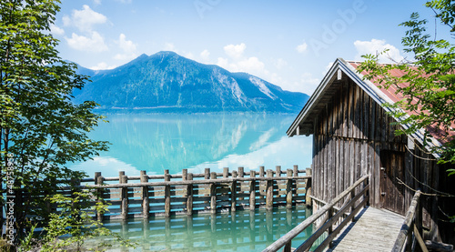 Fotobehang Pier hut