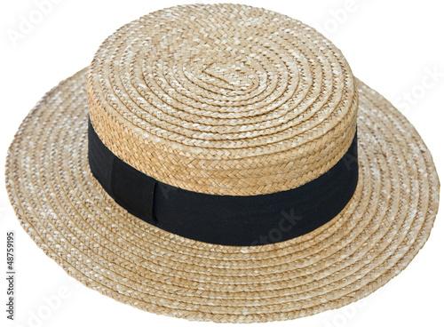 Photo chapeau de paille, canotier Maurice Chevalier