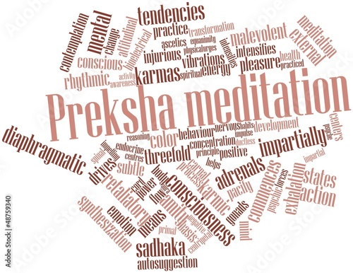 Photo Word cloud for Preksha meditation