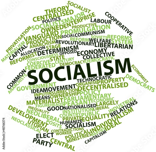 Valokuva Word cloud for Socialism