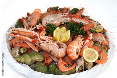 Papiers peints Coquillage fruits de mer