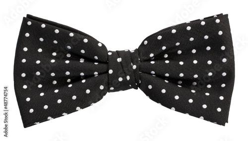 Fotografía Black dotted bow tie