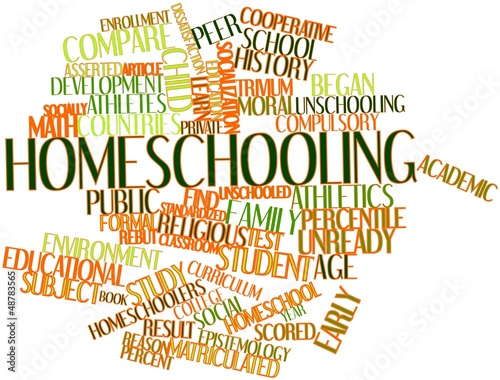 Valokuva  Word cloud for Homeschooling