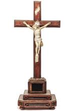 Nineteenth Century Crucifix With Jesus Figurine