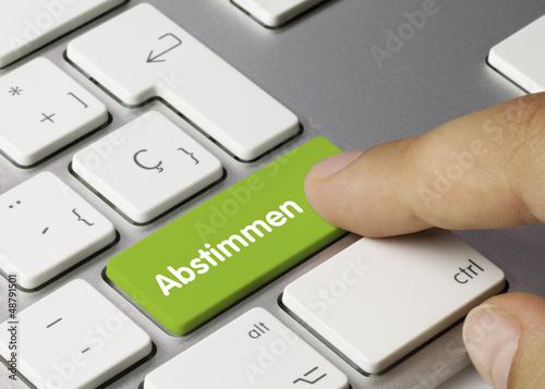 Fotografía  Abstimmen tastatur. Finger