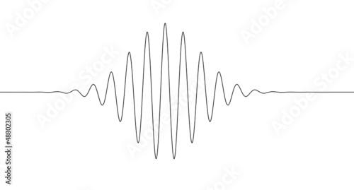 Fotografie, Obraz  Sinus decrease increase line