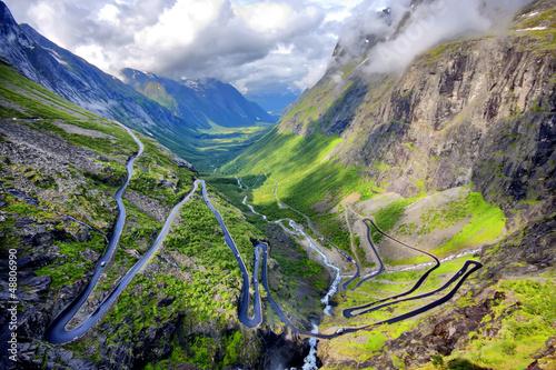 Foto op Aluminium Scandinavië Trollstigen