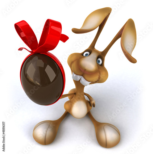 Fotobehang Boerderij Fun rabbit