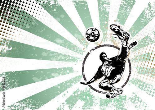 soccer retro poster background - 48820121