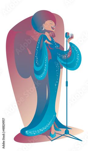 Blues singer Canvas Print