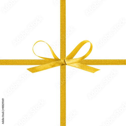 Fotografía  cross thin yellow ribbon with bow