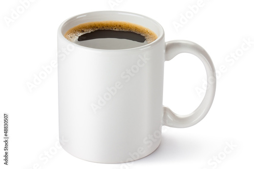 Papiers peints Cafe White ceramic coffee mug