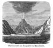 Vulkanausbruch (Alte Lithographie)