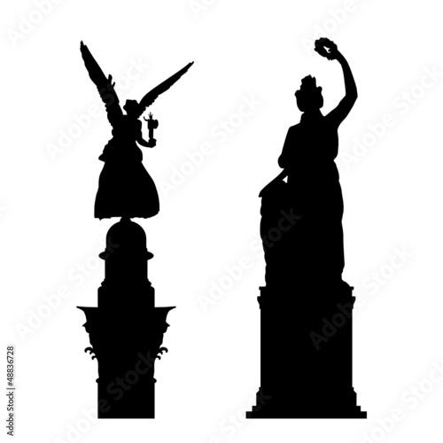 Fototapeta friedensengel und bavaria münchen