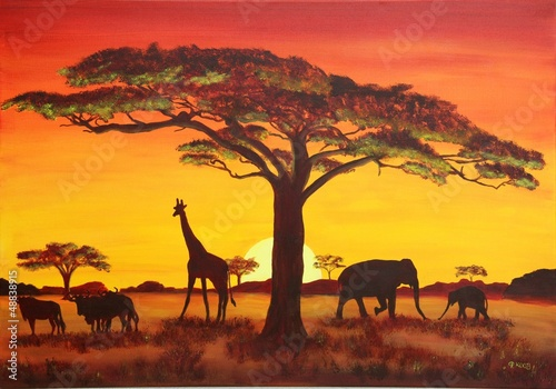 Sonnenuntergang in Afrika