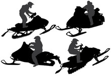 Snowmobiling Silhouette