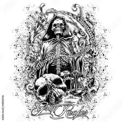 Photo  T-Shirt Print Grim Reaper