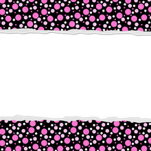 Pink Polka Dot Background For Your Message Or Invitation