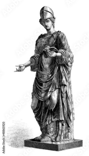 Fotografia Antiquity - Goddess : Athena/Minerva
