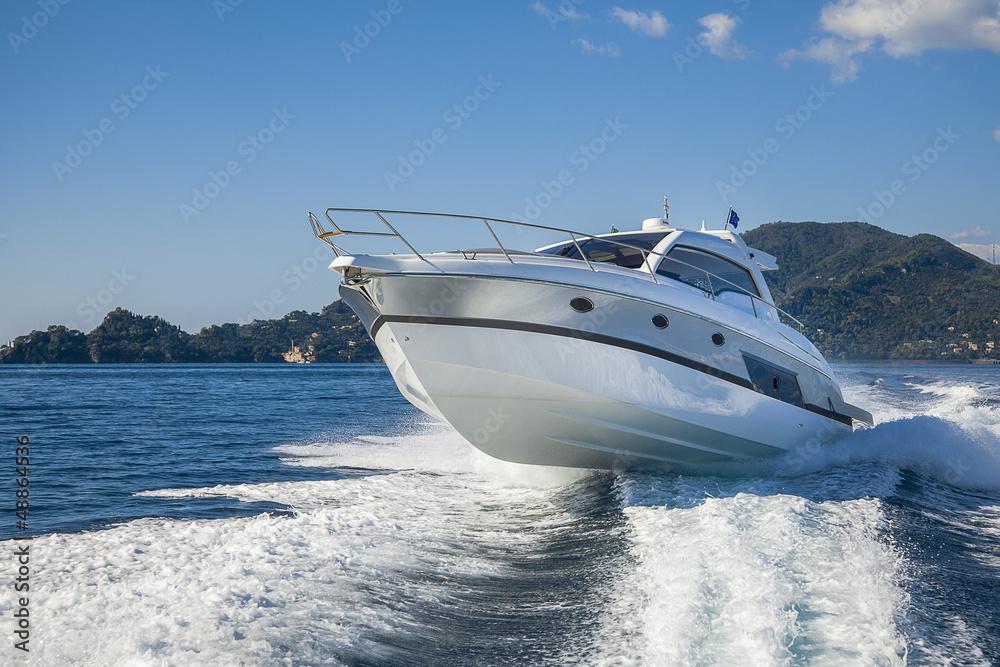 Fototapety, obrazy: motor boat rio yacht