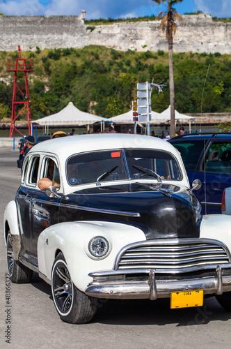 Türaufkleber Autos aus Kuba Karibik amerikanischer Oldtimer auf Kuba