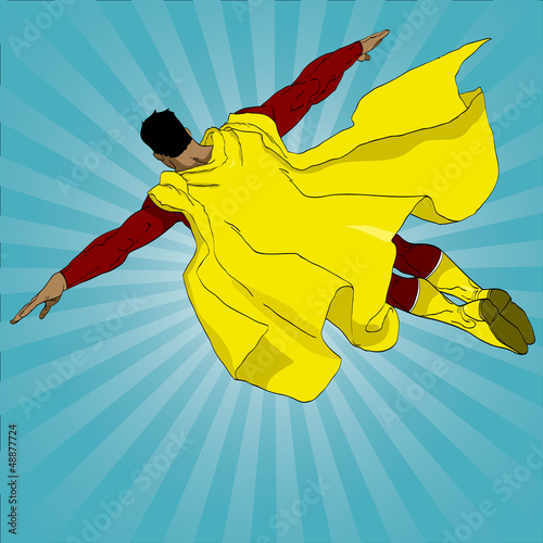 In de dag Superheroes Hand drawn vector superhero