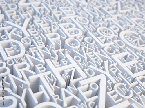 Fotografie, Obraz  Letters background