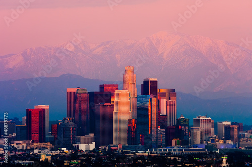 Foto op Canvas Los Angeles Los Angeles at sunset