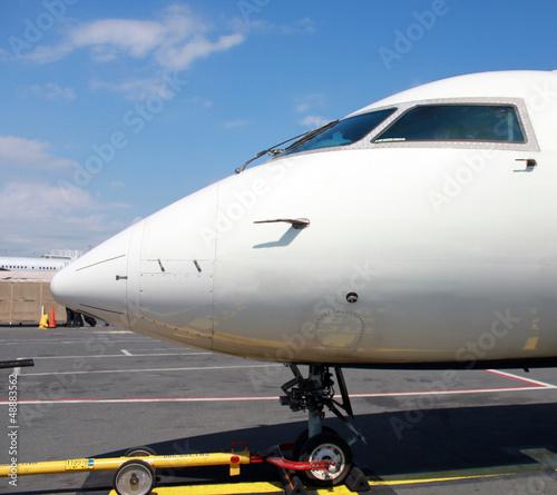 Obraz na plátně boarding small jet pane