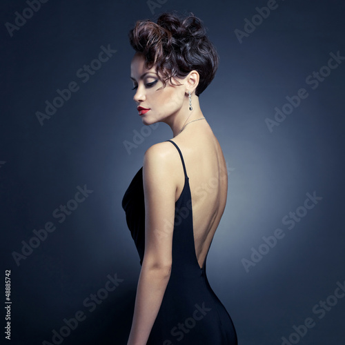 Fotografia  Elegant lady in evening dress