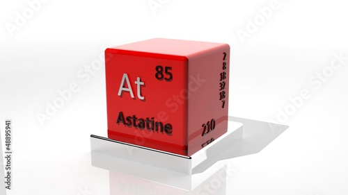 Astatine 3d chemical element of the periodic table Canvas Print