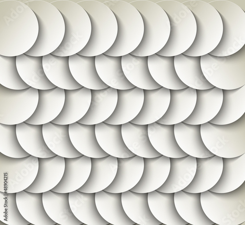 vector paper circle background with drop shadows. - 48904215
