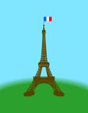 Fototapeta Fototapety Paryż - paryż i wieża