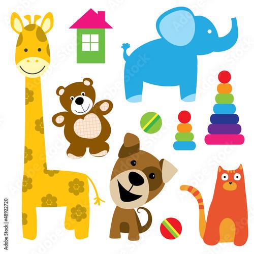 zestaw-zabawek-wektor-zwierzat
