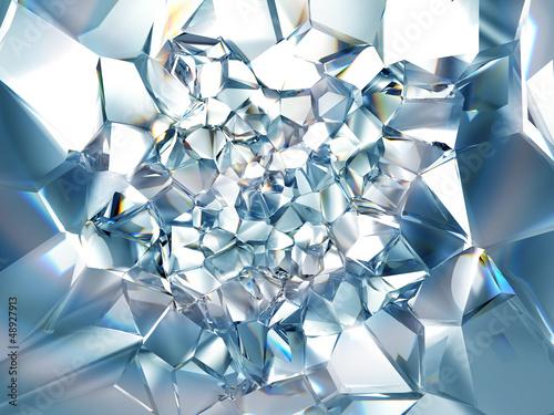 Naklejka na szybę clear ice blue crystal background