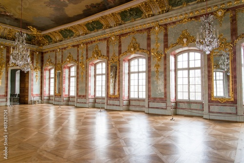 Ball hall in a palace Canvas Print