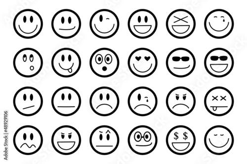 Cuadros en Lienzo Smiley Set