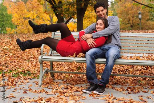 Fotografia, Obraz  Young couple in park