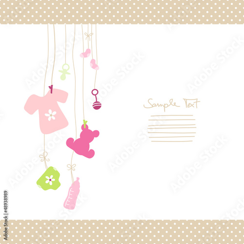 Hanging Baby Symbols Shirt Girl Dots Border #48938989
