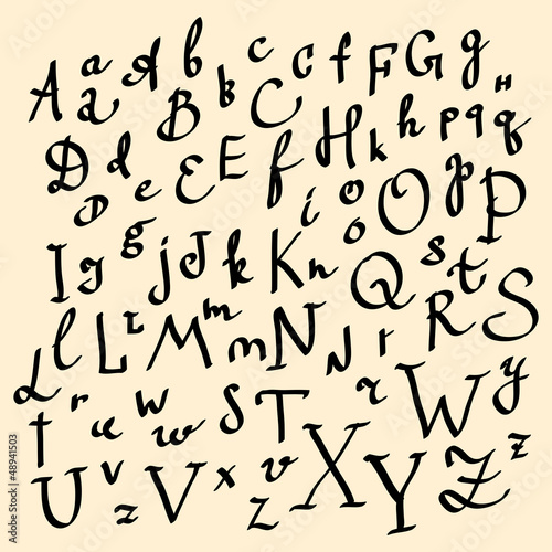 alfabet-wektorowy-recznie-narysowane-litery