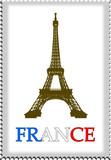 Fototapeta Fototapety Paryż - znaczek pocztowy z paryża